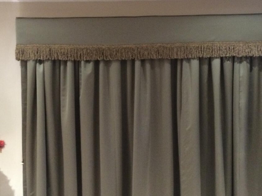 Silk curtains and pelmets